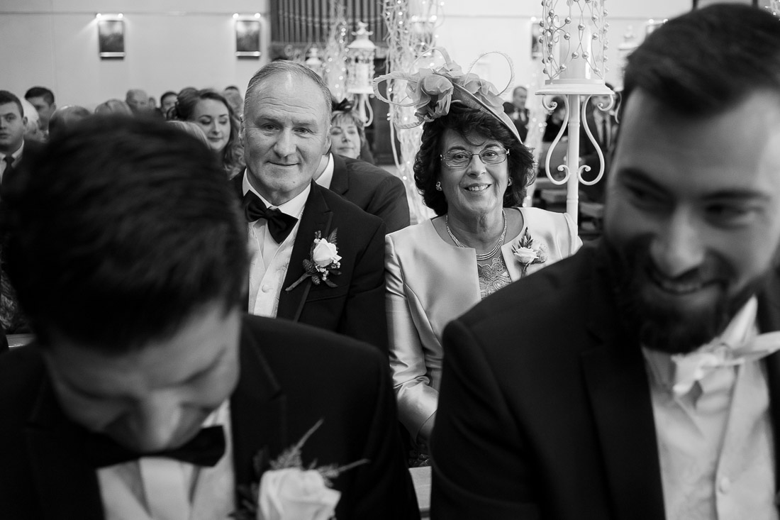 Parents of the groom behind