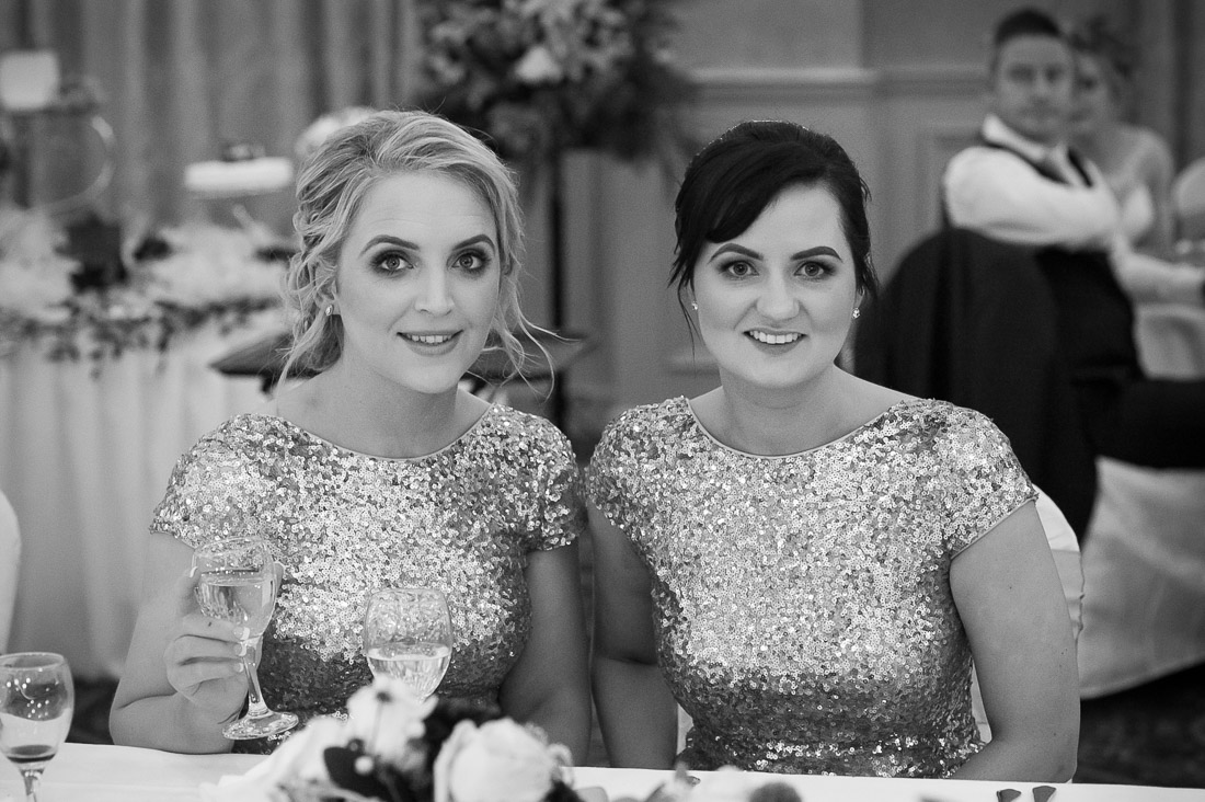 Two bridesmaids in hotel