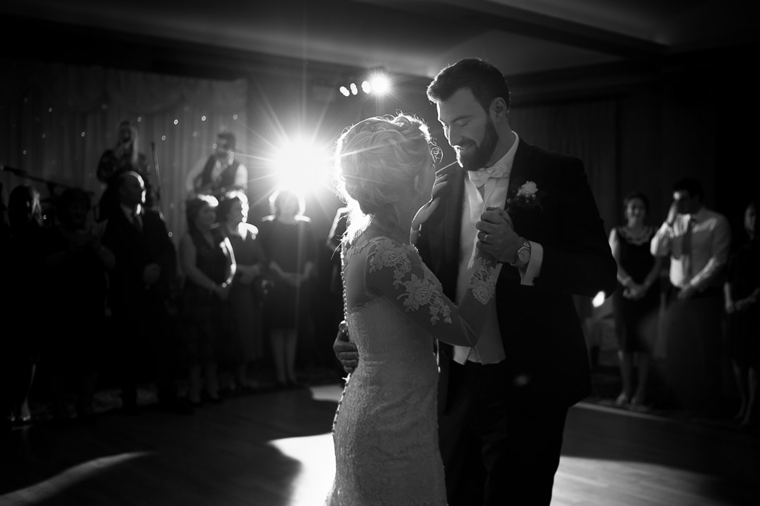 Romantic moment during first dance